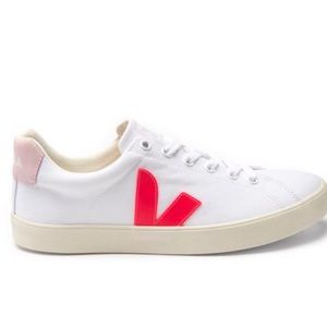 Veja Esplar SE white and pink canvas court sneakers size 6